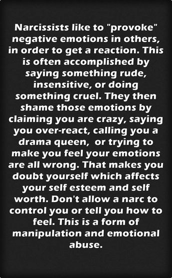 Narcissists ARE malignant serial provokers