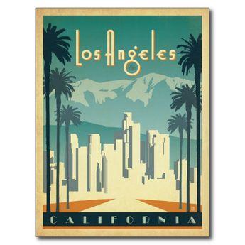 Los Angeles, CA 2 Postcard | Zazzle.com