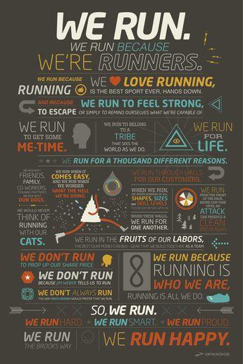 We run because we're runners