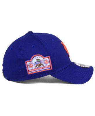 new styles 54e45 afa3e New Era New York Mets Banner Patch 9FORTY Cap - Blue Adjustable