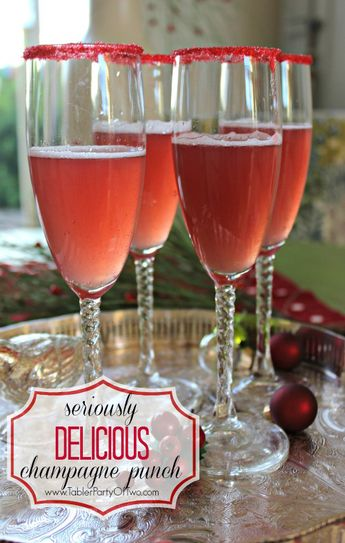 Seriously Delicious Holiday Champagne Punch