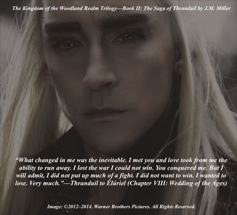 Thranduil and Êlúriel have a quiet moment before their wed