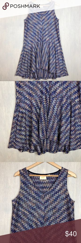 2e1a5552184e Anthro Maeve Westwater knit dress chevron M Anthropologie Maeve Westwater  knit dress in multicolored chevron with