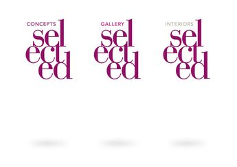 selected concepts – gallery and interiors  #branding #design #selected #logo #purple