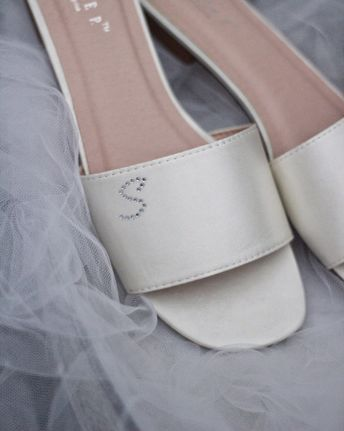 2f3e165d38dc CHAMPAGNE Pointy Toe Flats with Heart Shaped Jewels