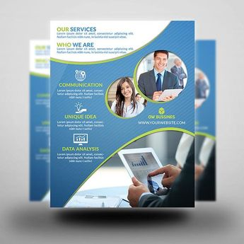 Printable Corporate Flyer | Flyer Template | Flyer Editable| Photoshop Template | Instant Download