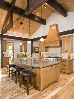 Love all the stone and natural wood