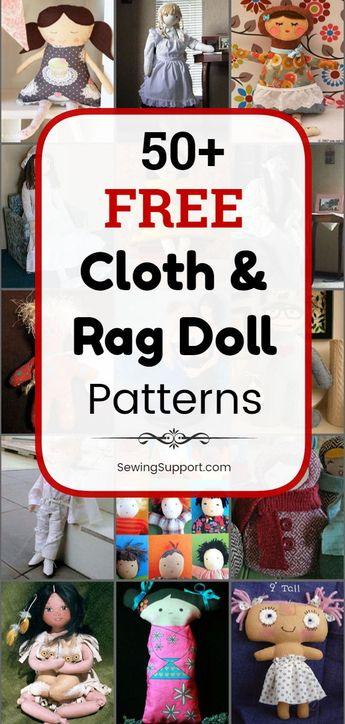 50 Free Cloth and Rag Doll Patterns