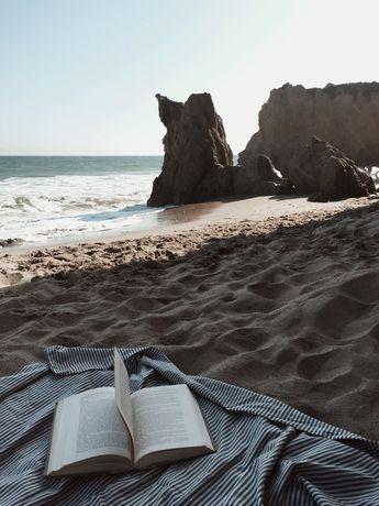 It's fun to read on the beach! #beach #summet #ocean #read #reading #books #nature
