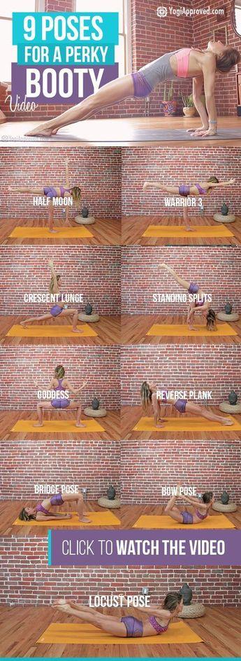 9 Yoga Poses For a Perky Booty (Video) -> zum optimalen Yoga Equipment gehts hi