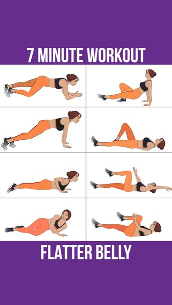7 Minute workout for a flatter belly