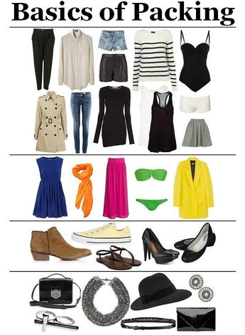 what-do-i-wear:  A Packing Guide: Basics Add an element of 'color' Footwear Accessories Hope this helps, and don't forget to check the weat...
