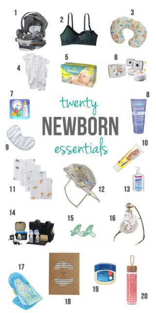 20 Must Have Newborn Essentials