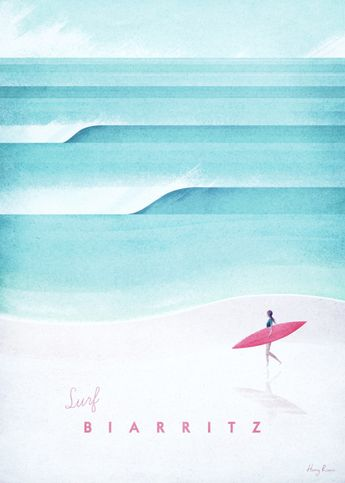 Biarritz by Henry Rivers | metal posters