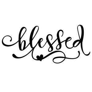 Blessed Religious Faith Christian Vinyl Car Decal Bumper Window Sticker Any Color Multiple Sizes Jenuine Crafts