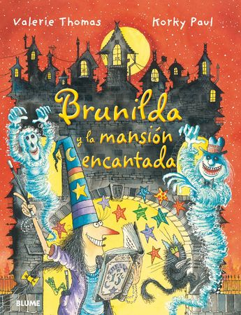 """""""Brunilda y la mansion encantada"""" de -valerie thomas y korky paul. La caída de un jarrón, que interrumpe la siesta de Brunilda, es solo el primero de algunos acontecimientos muy extraños. ¿Estará su mansión encantada? Brunilda quiere asegurarse de que no es así, y busca el hechizo adecuado. Sin embargo, las cosas no salen como esperaba... Una nueva aventura de la simpática bruja Brunilda y su inseparable gato Bruno.   DE 7 A 9 AÑOS . Signatura: R BLU"""