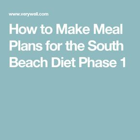 What You Can Eat on Phase 1 of the South Beach Diet