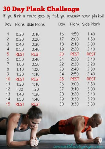 January 30 Day Plank-A-Day Challenge