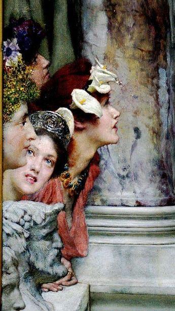 "Sir Lawrence Alma-Tadema, ""Spring"" detail, 1894"