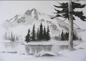62+ Gambar Pemandangan Hitam Putih Pensil Terlihat Keren