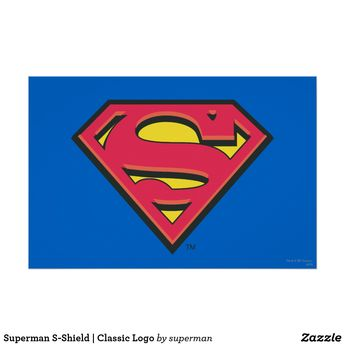 Superman S-Shield | Classic Logo Poster | Zazzle.com