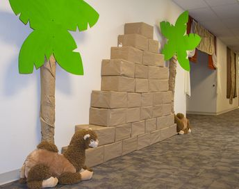 Pyramids are found around the world, reminders of the original tower built at Babel, and make great decorations in your hallways at #TheIncredibleRace #AnswersVBS #VBS2019