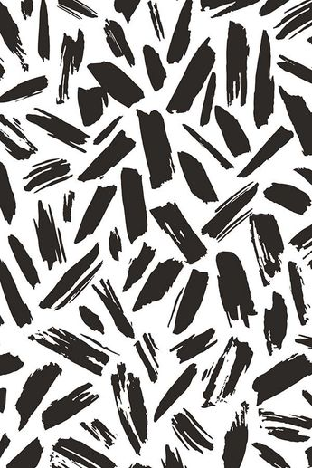 Black Drift by elizabethatlas. Driftwood black and white strokes on fabric, wal...