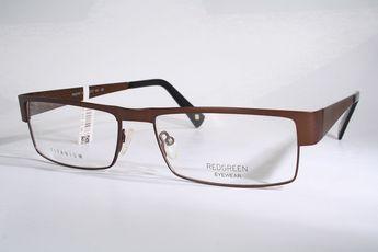 73b48fe612 REDGREEN New TITANIUM Brown Danish Design Eyeglass Frames Mens Large Nickel  Free