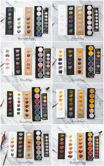Coliro Pearlcolors Mica Watercolor Sets