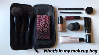 MAKEUP MONDAY: what's in my makeup bag - YouTube