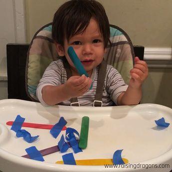 Craft Sticks & Tape Toddler Activity