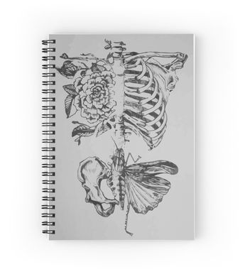 'Soft anatomy' Spiral Notebook by redko
