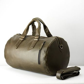 Green Leather Duffle Bag Men 25L 8fc857159d5d6