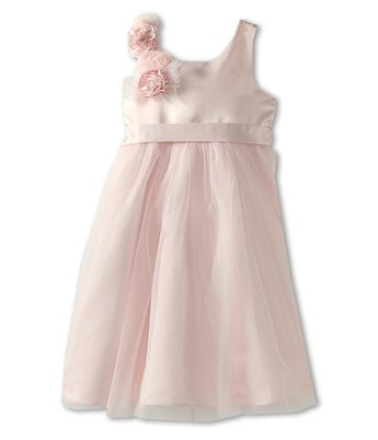 35fe147e4bef Us Angels Empire Dress w/ Cascade of Rosettes (Toddler) Blush Pink - Zappos