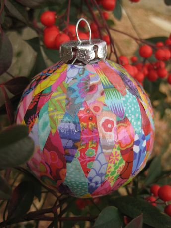 Handmade ornament for swap