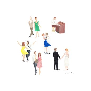 La La Land - review and illustration by Jackie Diedam