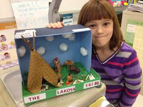 Mrs Coxs Class Native American Dioramas