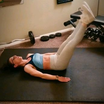 Tone and tighten your abs with this killer core exercise. No equipment needed, this is the best exercise to add to your home workout for a flat belly. #core #womensworkout #homeworkout #exercisefitness ~Beats by Dr. Quan