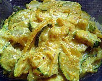 Courgettes lait de coco et curry
