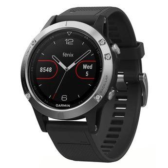 GARMIN Fenix 5 Silver Montre connectée GPS cardio Multisports - Argent et noir
