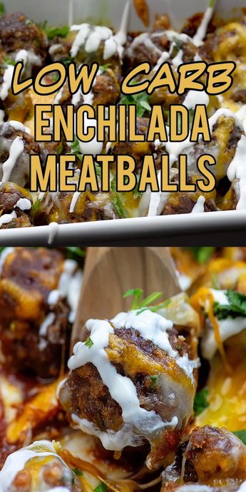 Low carb, keto friendly enchilada meatballs! We love this for Taco Tuesday! #lowcarb #keto #mexican #meatballs