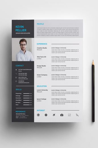 Pellier Clean Resume Template #73715