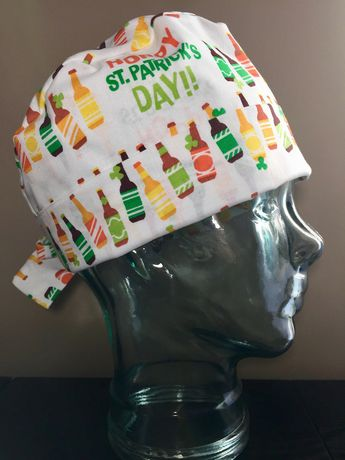 Hoppy St Patricks Day Surgical Scrub Hat cb8bc4244d23