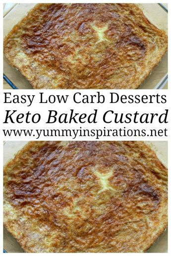 Low Carb Keto Baked Custard Recipe