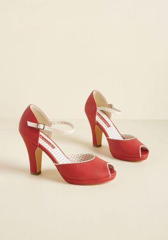 B.A.I.T. Footwear Sentimental Sass Peep Toe Heel