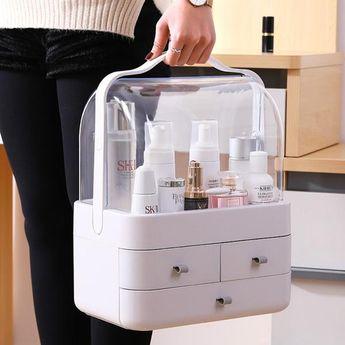 Transparent Dustproof Drawer Type Cover Cosmetics Storage Box