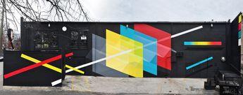 Exterior Mural : Passing Through Gates 25 ft. x 120 ft. : latex and enamel Living Walls Concepts : Atlanta GA
