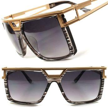 ffb7edfd3728 Details about Rich Famous Millionaire Swag Hip Hop Rapper DJ Gold Mens  Womens Sunglasses F41