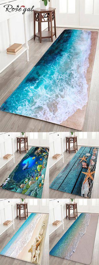 Tapis de bain motif de la mer Tapis couloir pour la maison #Rosegal #tapis #décoration