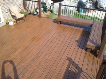 16x20 Deck Wih Trex Transcends Ed Rum And Hidden Fasteners Built In Benches Railing